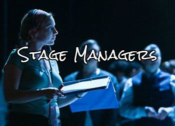 Stage Manager in blue light